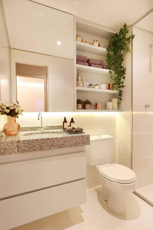 banheiro pequeno com decoracao clean