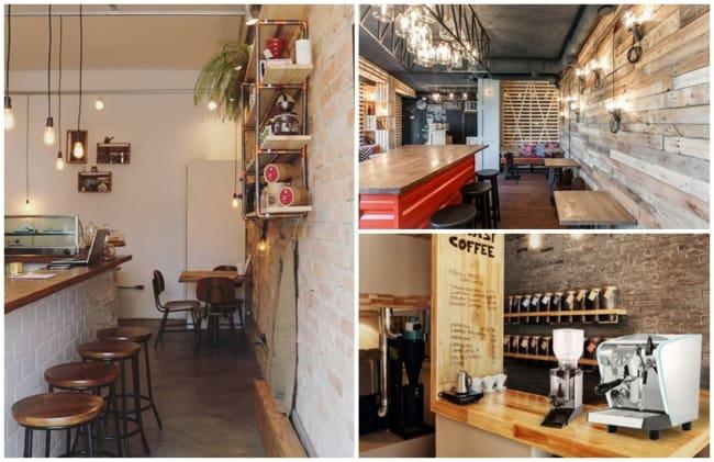 cafeteria com decoracao rustica