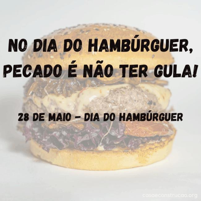 frase para dia do hamburguer