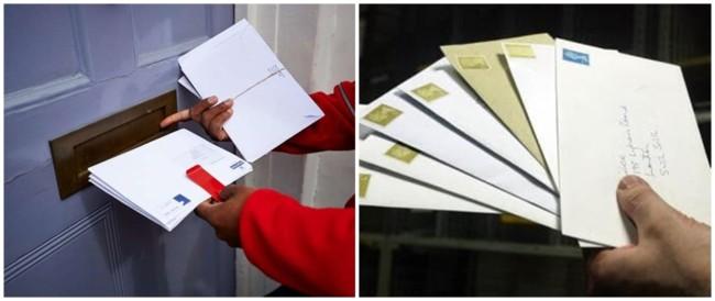 trabalho como envelopador de cartas