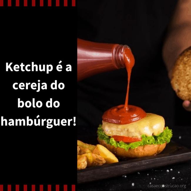 ideia para propaganda de hamburguer