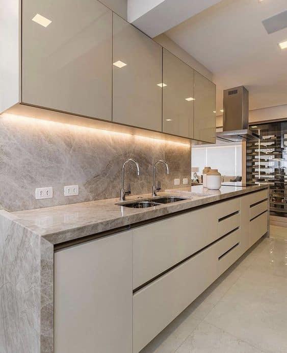 estilo moderno para cozinha off white