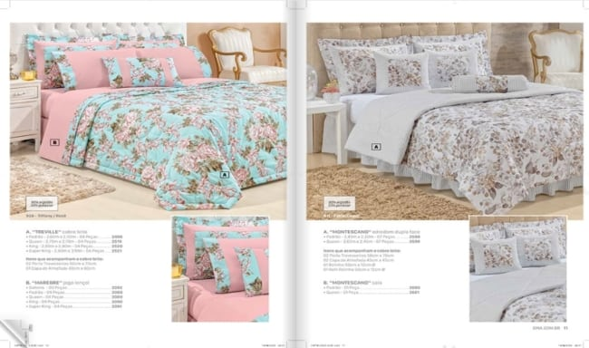 catalogo de roupa de cama para revender