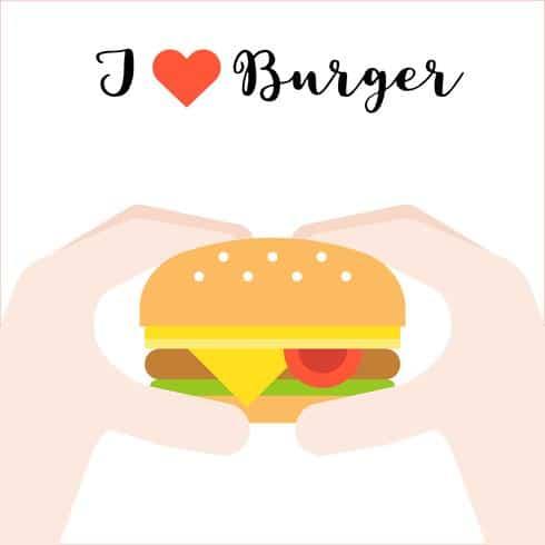 divulgacao simples para hamburguer