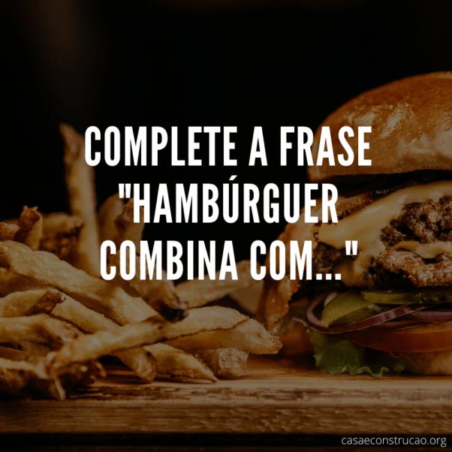 frase de publicidade para hamburguer