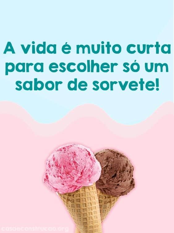 ideia de frase para sorvete