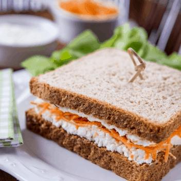 sanduiche natural de ricota