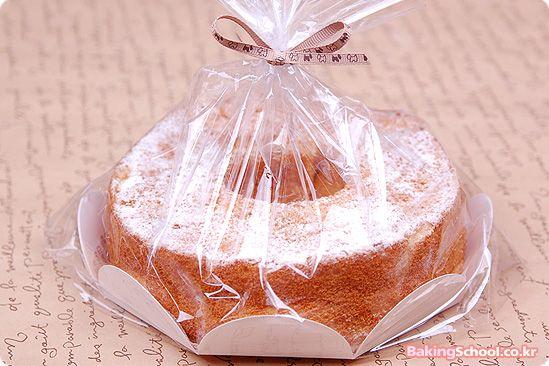 embalagem em celofane para bolo caseiro