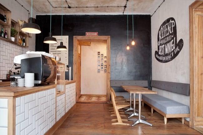 estilo simples para cafeteria gourmet