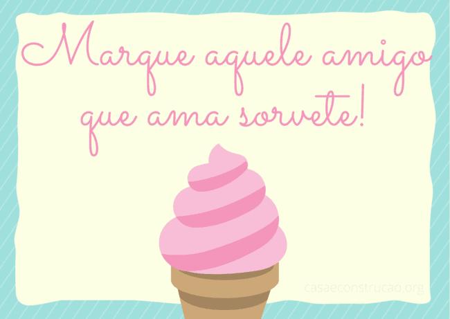 frase simples de sorvete