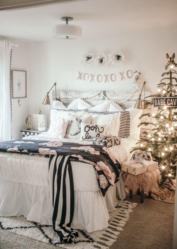 cama com decoracao escandinava
