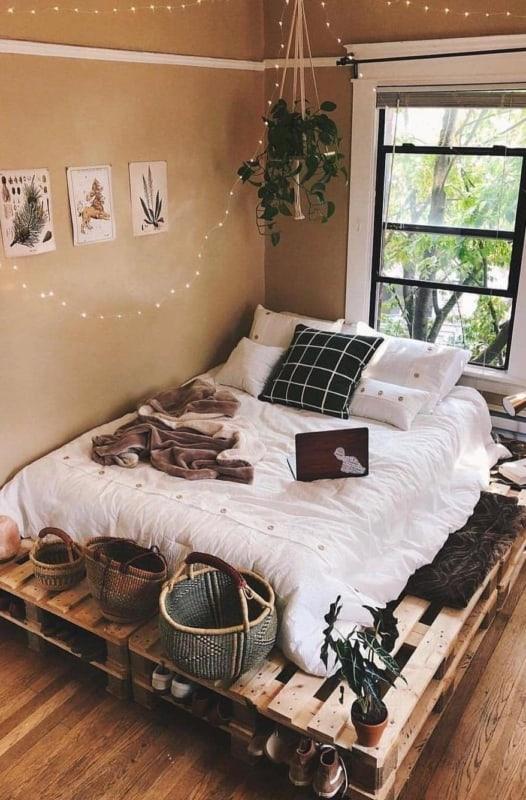 cama de pallet rustica