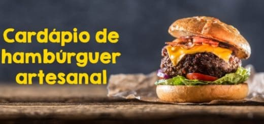 cardapio de hamburguer artesanal
