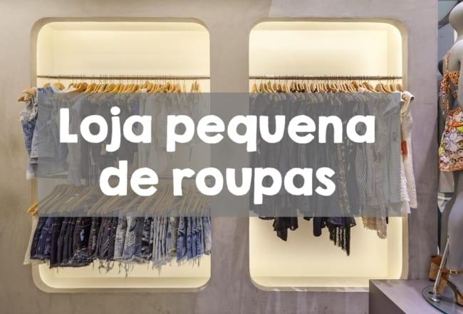 loja pequena de roupas