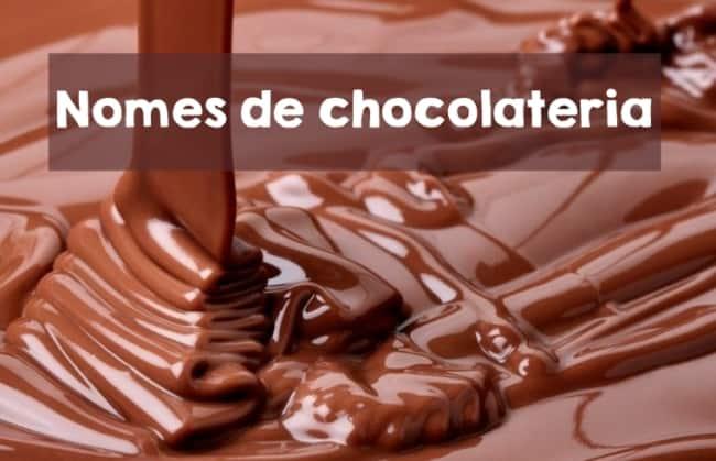 nomes de chocolateria