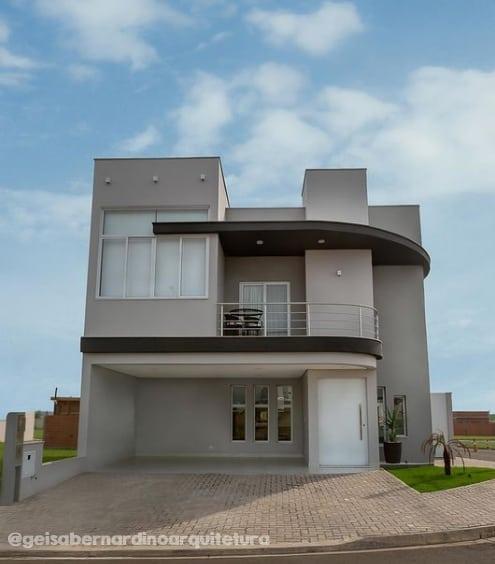 fachada de casa com cor elefante suvinil