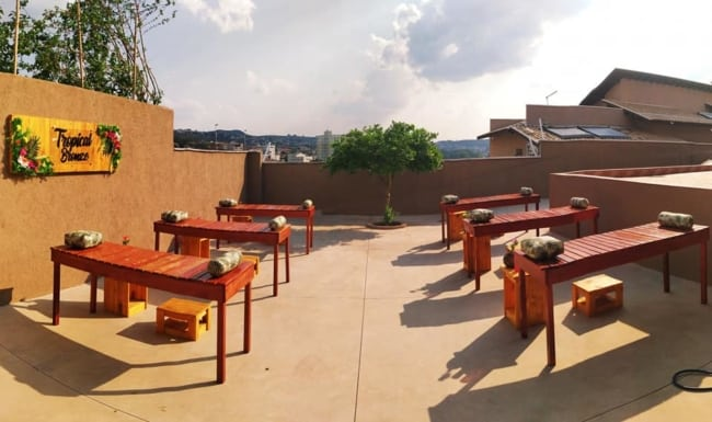 terraco com bronzeamento natural