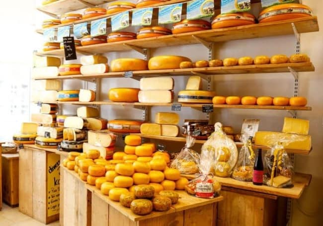 estilo rustico para loja de queijos e frios