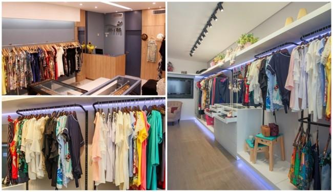 decoracao moderna para loja pequena de roupas