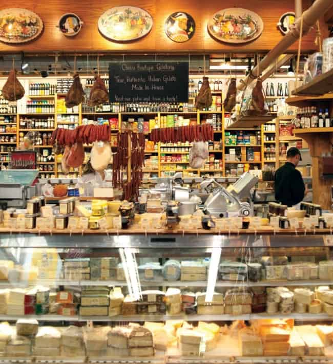 loja de queijos com estilo rustico