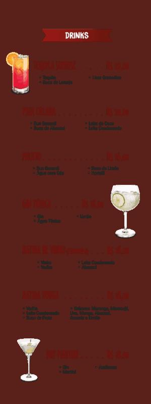 cardapio de drinks