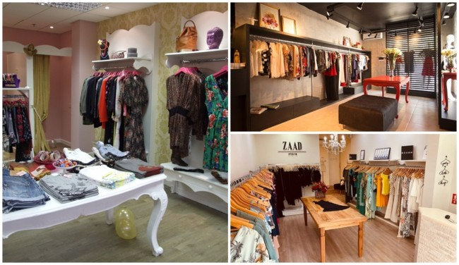 decoracao para loja pequena de roupas femininas