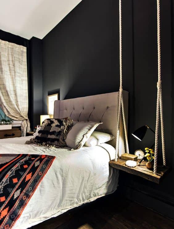 decoracao de quarto moderno com balanco
