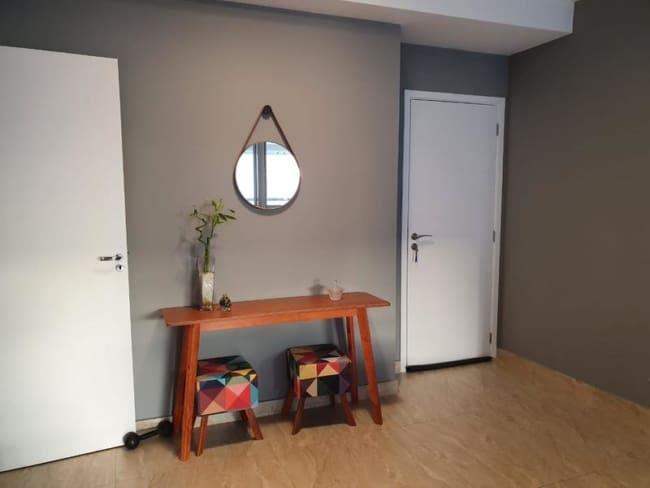 parede sala pintada com cor elefante Suvinil