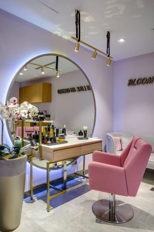decoracao moderna e de luxo para salao de beleza