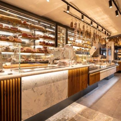 decoracao moderna e gourmet para loja de frios