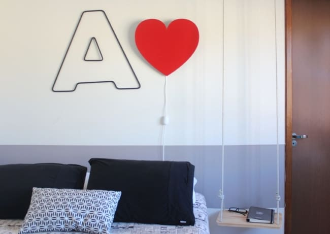 decoracao de quarto com balanco