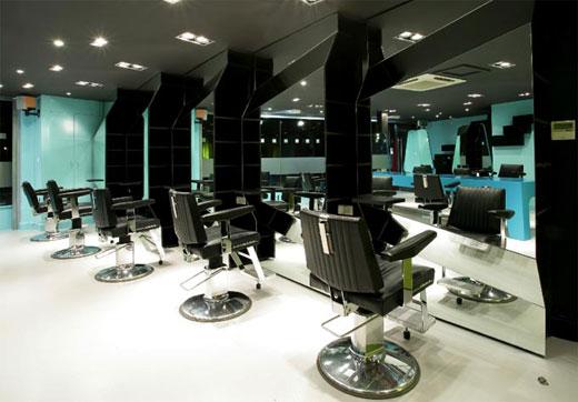 salao de beleza moderno e de luxo