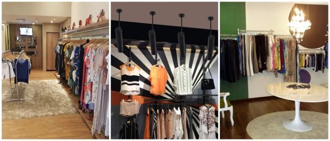decoracao moderna para loja de roupas em casa