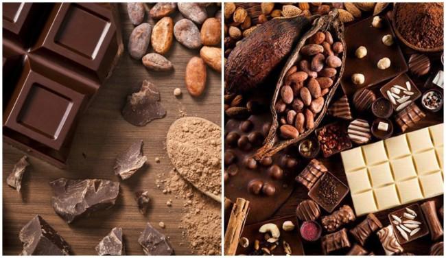 lista com nomes para loja de chocolates