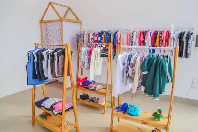 decoracao de loja de roupas infantil em casa