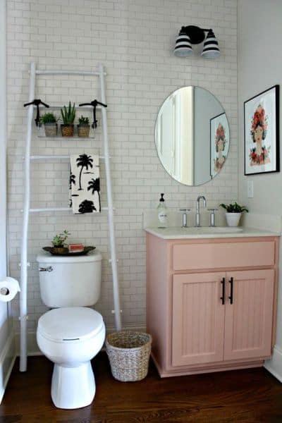 banheiro tumblr simples e delicado