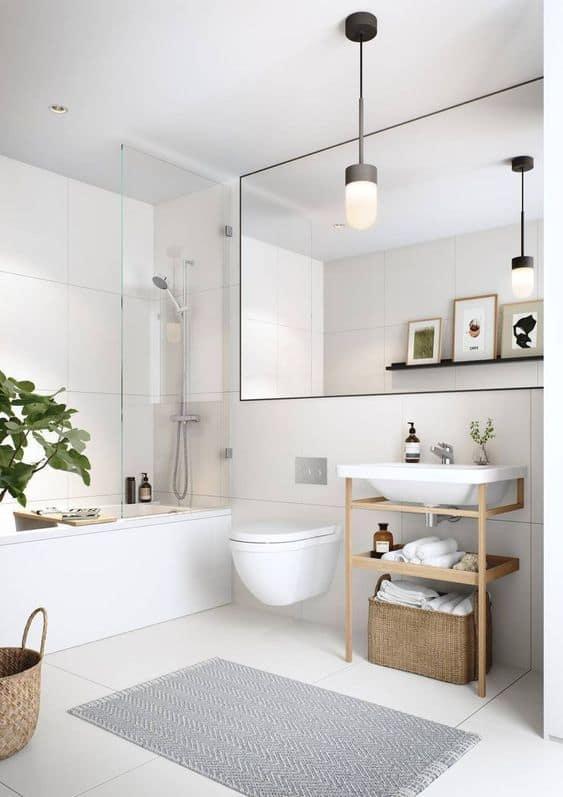 banheiro tumblr simples e minimalista