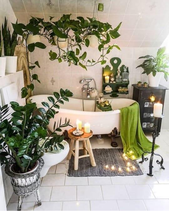 banheiro urban jungle