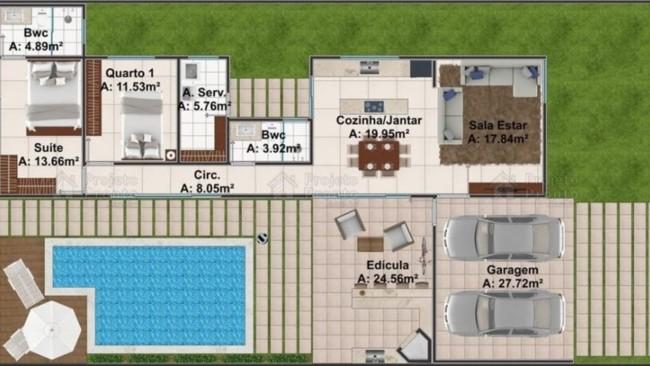 casa com piscina edicula e garagem