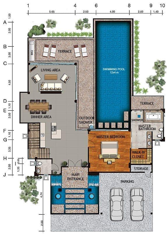 casa com piscina suite e garagem