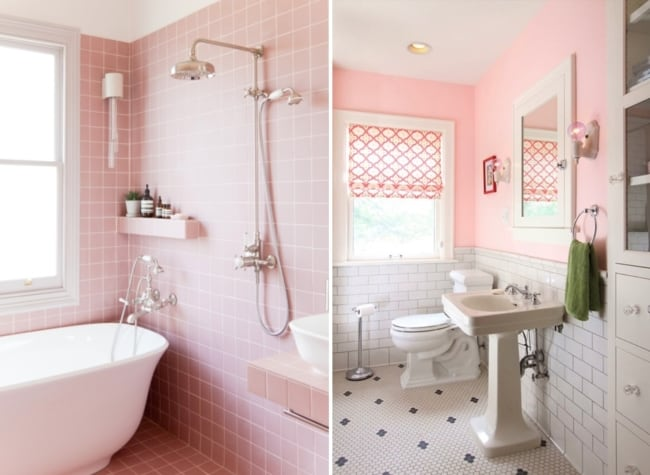 modelos de banheiro tumblr rosa