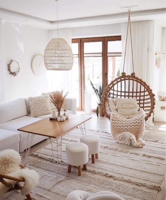 sala com decoracao no estilo escandinavo