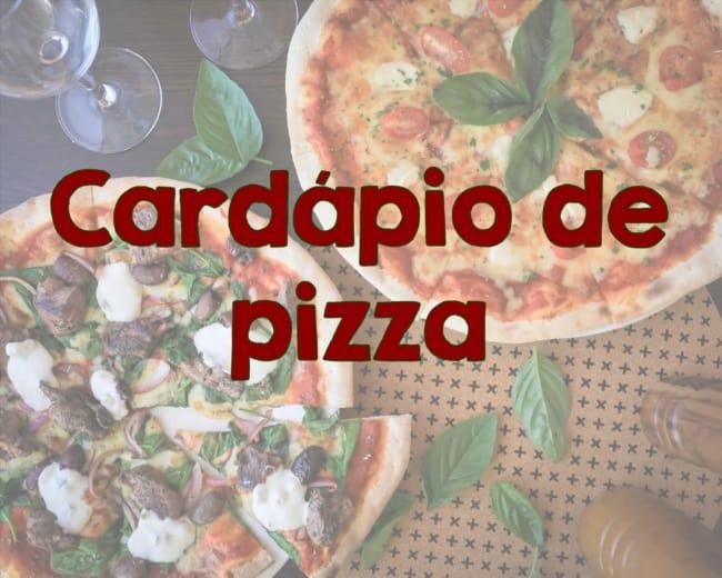 cardapio de pizza