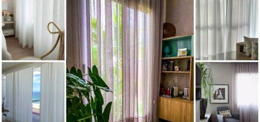 cortina de linho