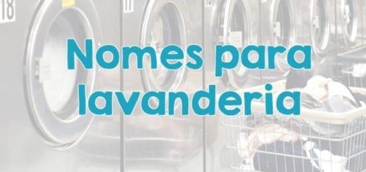 nomes para lavanderia