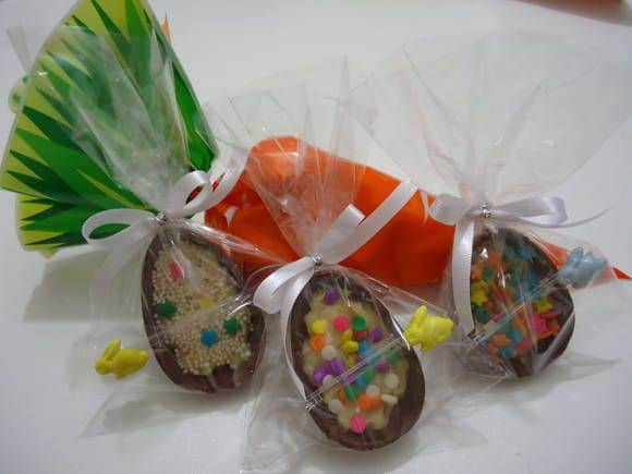 mini ovos de pascoa embalados