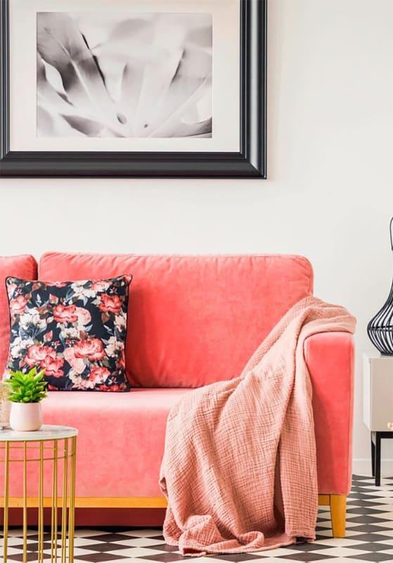 sala com sofa goiaba