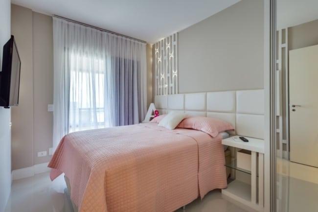 quarto moderno com tinta cor areia