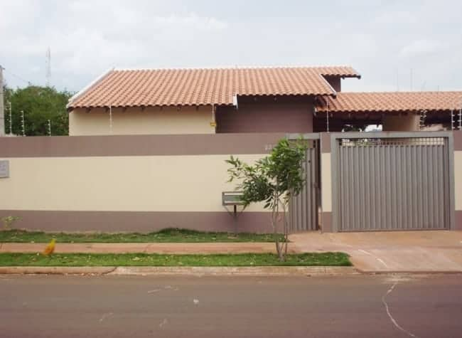 casa com fachada cor areia