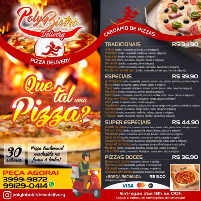 modelo de cardapio de pizza com precos
